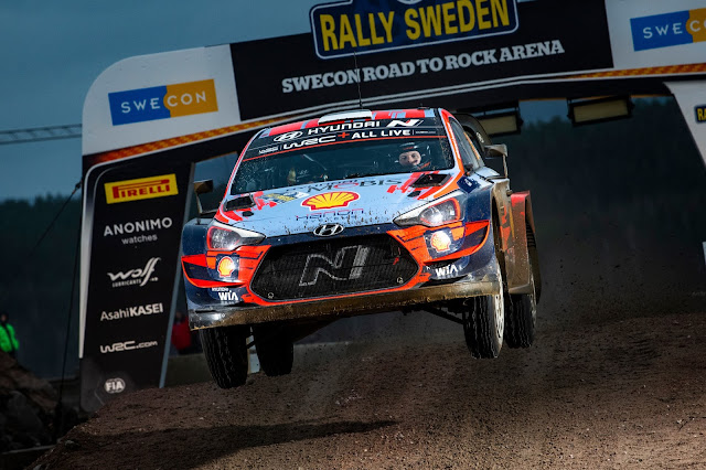 Hyundai i20 World Rally Car Jumping Flying