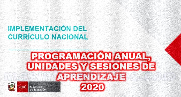 Implementación del Currículo Nacional 2020