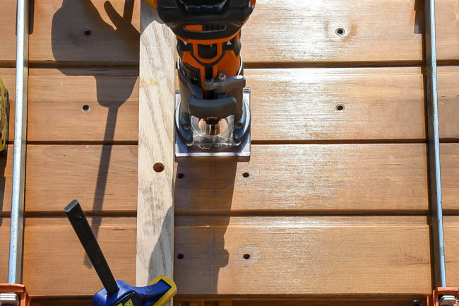 Using router to cut into dresser drawers
