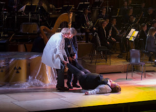 Ligeti - Le grand Macabre - Astradamors (Frode Olsen) and Nekrotzar (Peter Hoare), dragging Mescalina (Heidi Melton)  - John Phillips/Getty Images