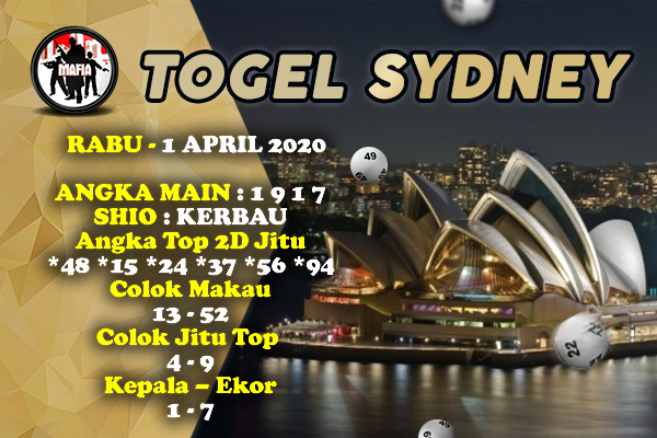 Syair SDY Rabu 01 April 2020 - Prediksi Mafia SDY