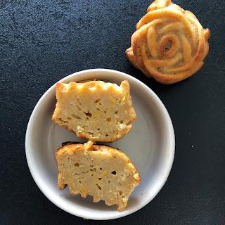 Intérieur gâteau mexicain au maïs (Pastel de elote)