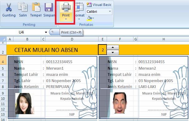 Cetak Kartu Nisn Dengan Aplikasi Excel Kumpulin Soal