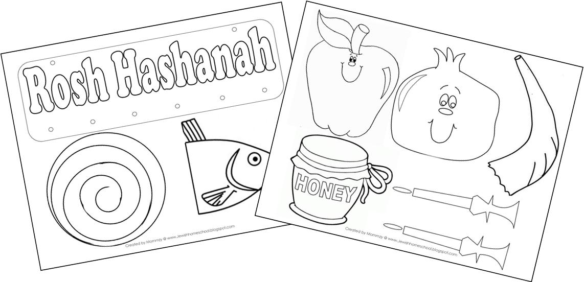 Printable Worksheets rosh hashanah worksheets : A Jewish Homeschool Blog: Adorable Rosh Hashanah Mobile