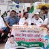 कांग्रेस ने केंद्र सरकार के खिलाफ पेट्रोल पंप पर हस्ताक्षर अभियान चलाया
