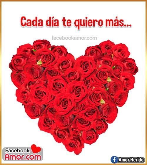 corazón y rosas rojas