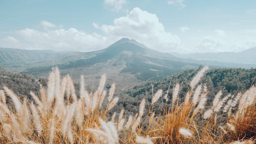 kafe dengan pemandangan gunung batur