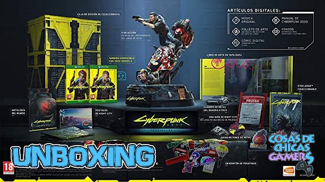 Unboxing edición coleccionista Cyberpunk 2077