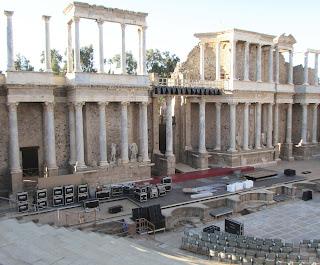 Teatro de Mérida; teatro romano; Mérida; Badajoz; Extremadura; Vía de la Plata