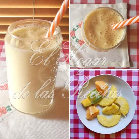 Smoothie de piña, mango y naranja