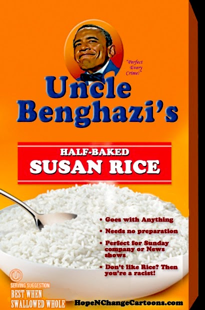 stilton's place, stilton, political, humor, conservative, cartoons, jokes, hope n' change, benghazi, obama, uncle ben's rice, susan rice