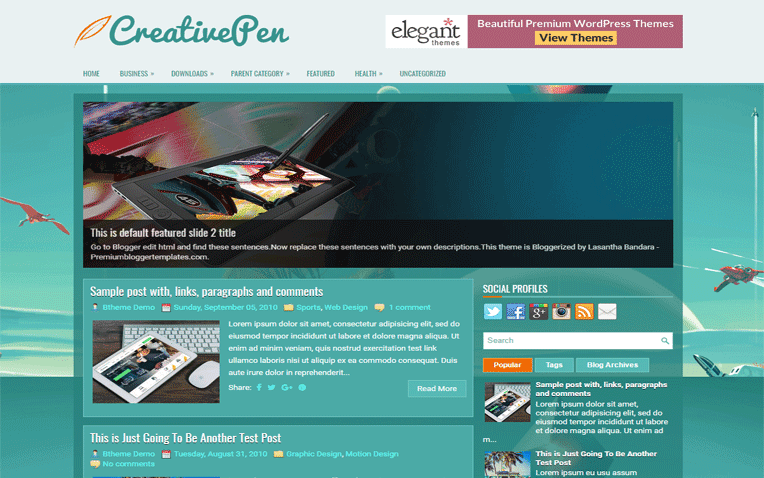 CreativePen Free Blogger Template