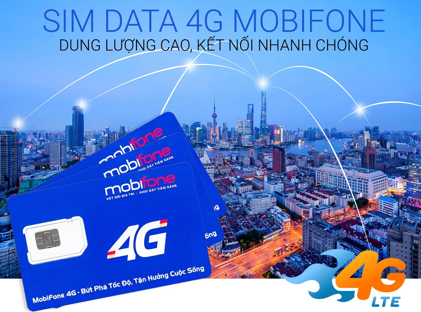 Sim 4G Chuyên Dụng Cho Bộ Phát Wifi 4G / LTE trọn gói