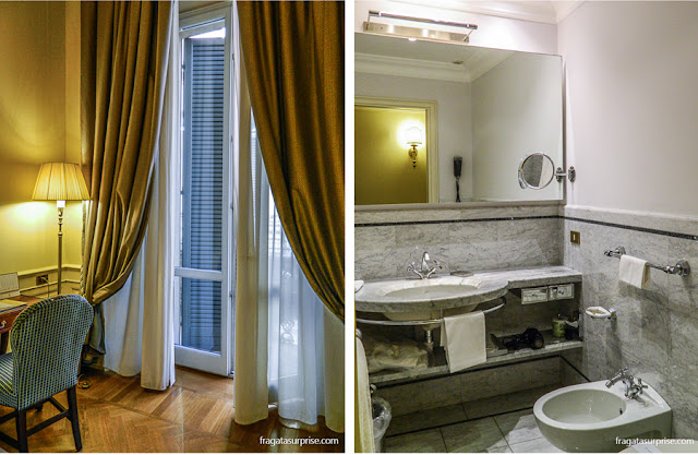Banheiro do Hotel Corona d'Oro, Bolonha, Itália