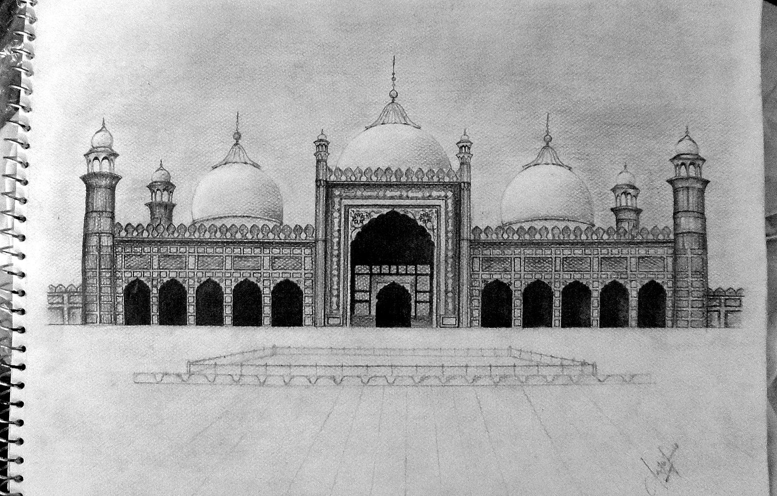 Badshahi mosque minar e pakistan
