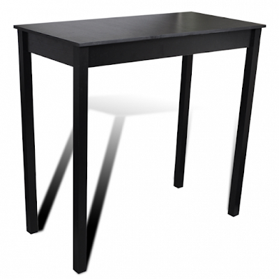 Bar Table Dining Table Black 115 x 55 x 107 cm