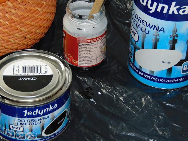malowanie koszyka emalią alkidową