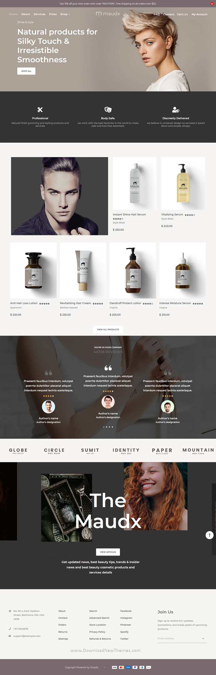 Hair Salon Shop Shopify Theme