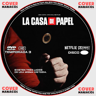 LA CASA DE PAPEL TEMPORADA 3 2019 [COVER - SERIES - DVD]