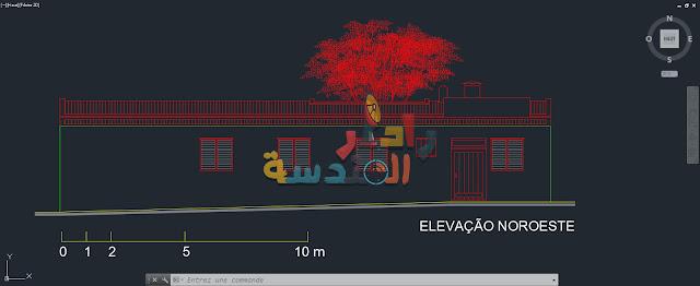مشروع البيت الزجاجي لينا بو باردي dwg