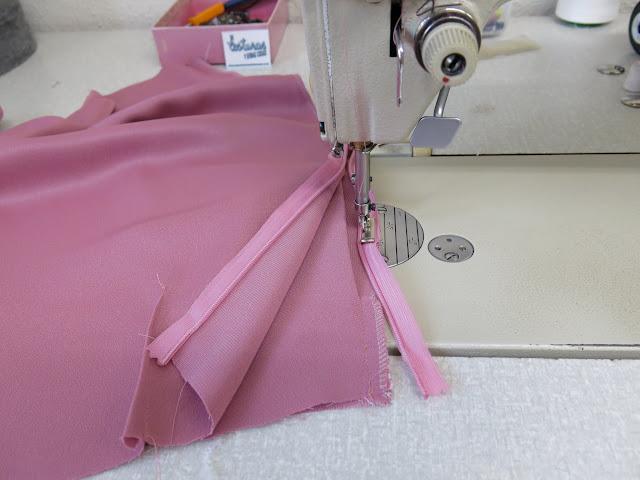 colocación zipper