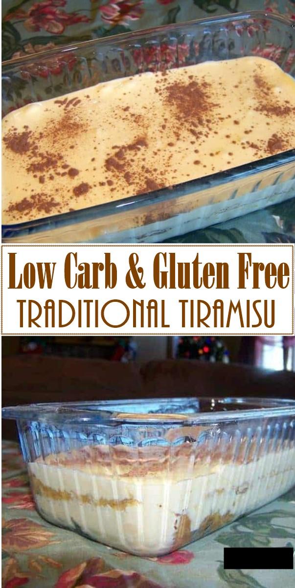 Traditional Tiramisu - Low Carb & Gluten Free #Dessertrecipes