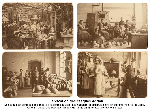 GUERRE 14-18 : Le casque Adrian (1915)