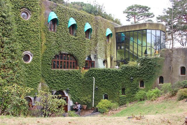 vue extérieure du Musée Ghibli - Mitaka, Japon
