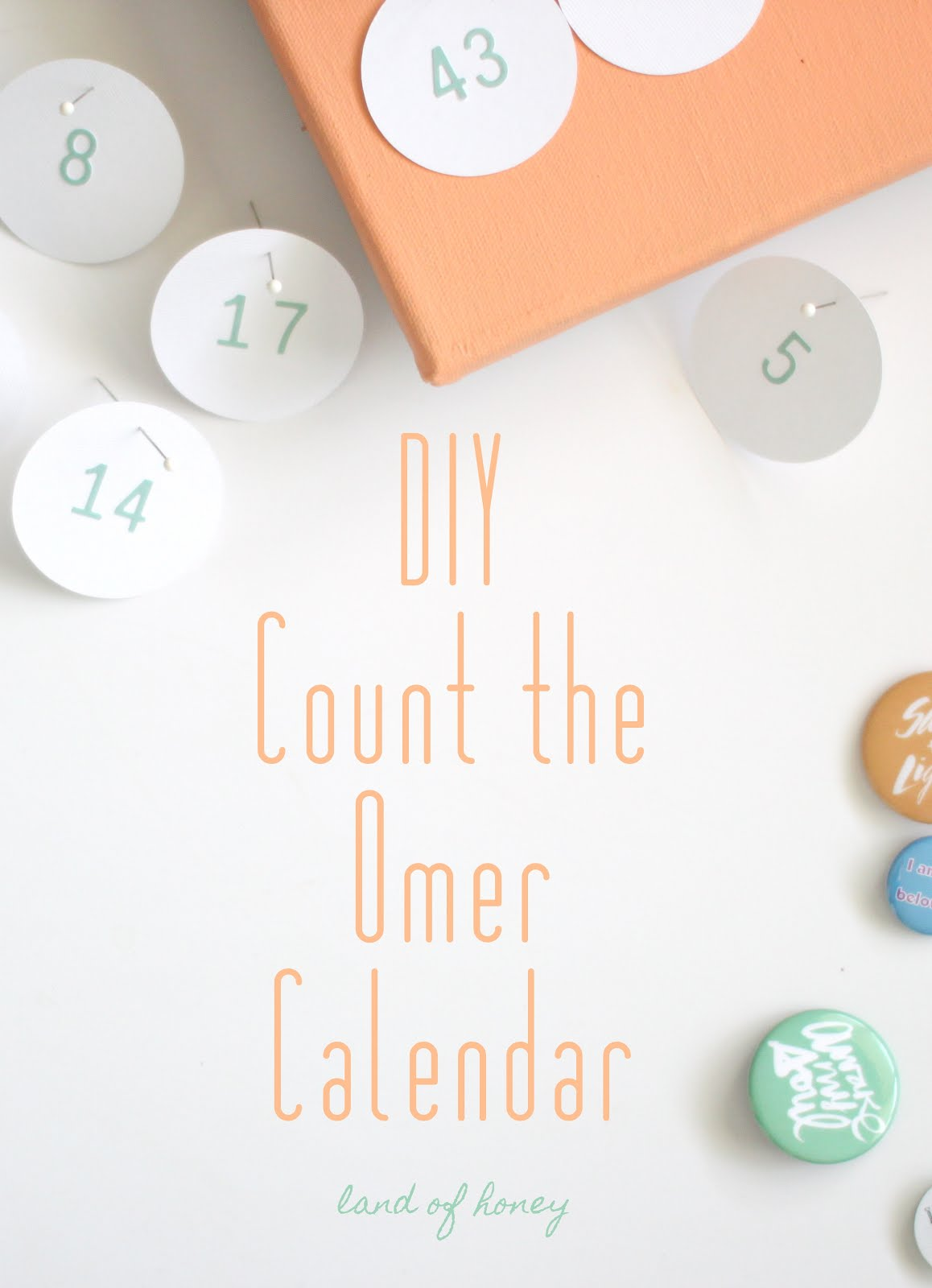 DIY Count the Omer Calendar