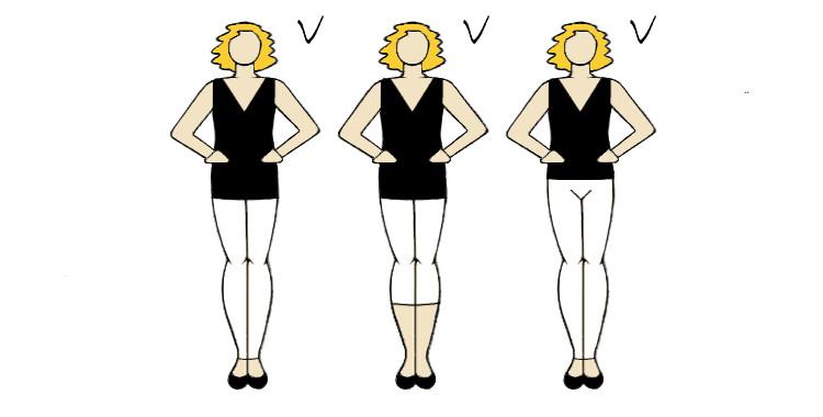 spodnie i tunika ukrywającą brzuszek i wyszczuplającą sylwetkę