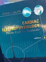 Cardiac Electrophysiology: From Cell to Bedside, 4th Ed., Edited by Zipes and Jalife, superimposed on Intermediate Physics for Medicine and Biology.