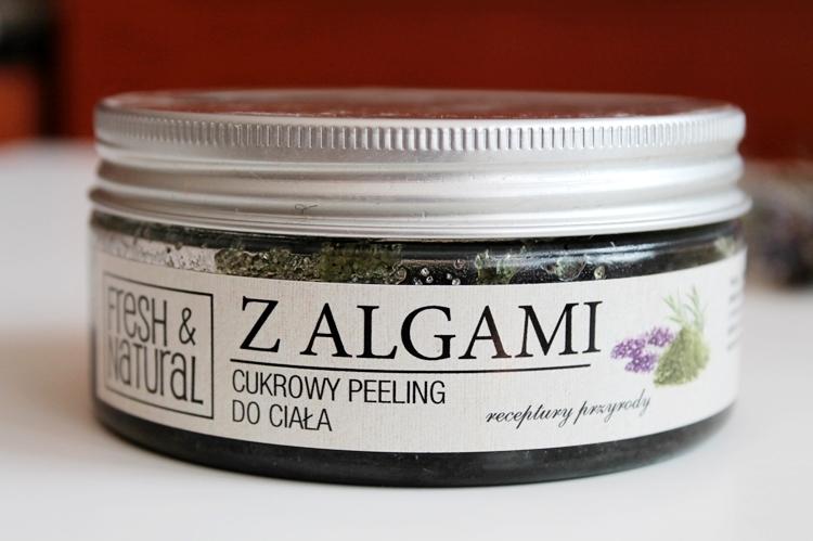 cukrowy peeling do ciała z algami Fresh&Natural