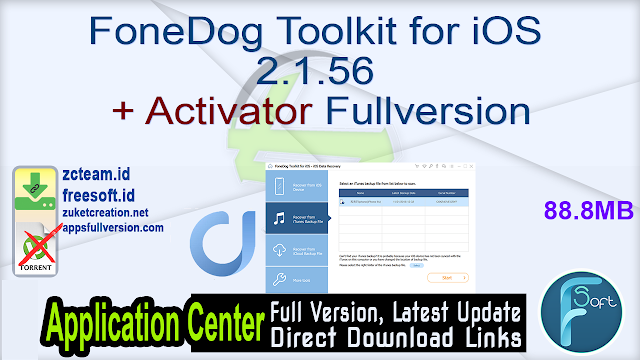FoneDog Toolkit for iOS 2.1.56 + Activator Fullversion