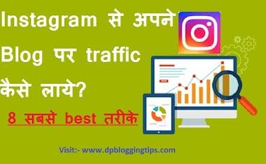 Blog पर Instagram से Organic Traffic Kaise लाये in Hindi