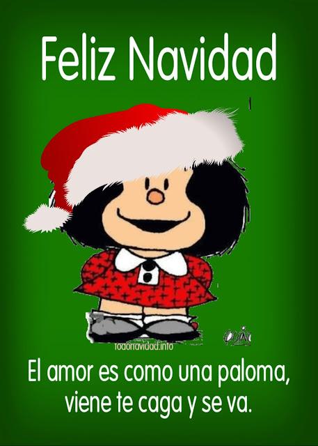 El amor es como un paloma, viene te caga y se va. Feliz Navidad
