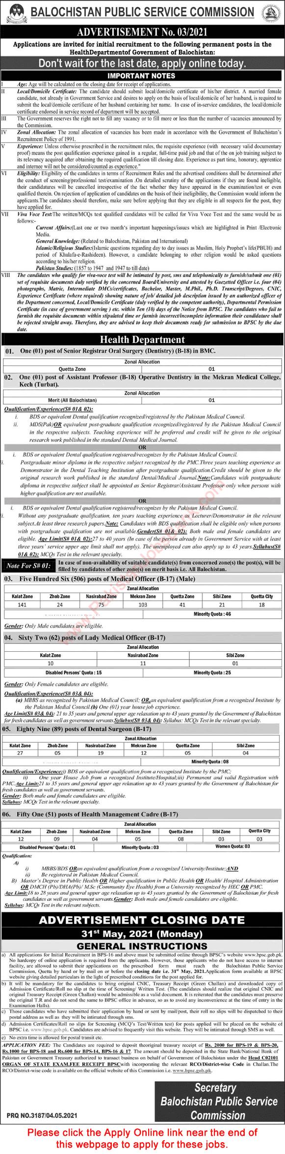 Balochistan Public Service Commission (BPSC) Jobs 2021 in Pakistan