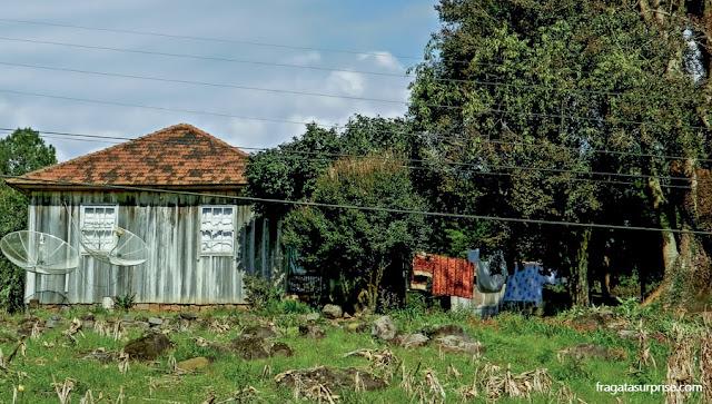 Casa de madeira na Serra Gaúcha