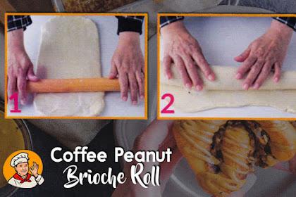 Coffee Peanut Brioche Roll
