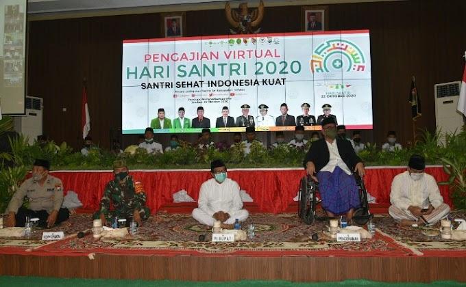 Peringati  Hari Santri Plt Bupati  Secara Virtual Pesantren  31 Kecamatan.