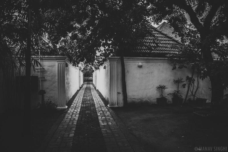 Path way back to Luxury Pool Villas at Le Pondy Beach Resort, Pondicherry- 30-Oct-2019