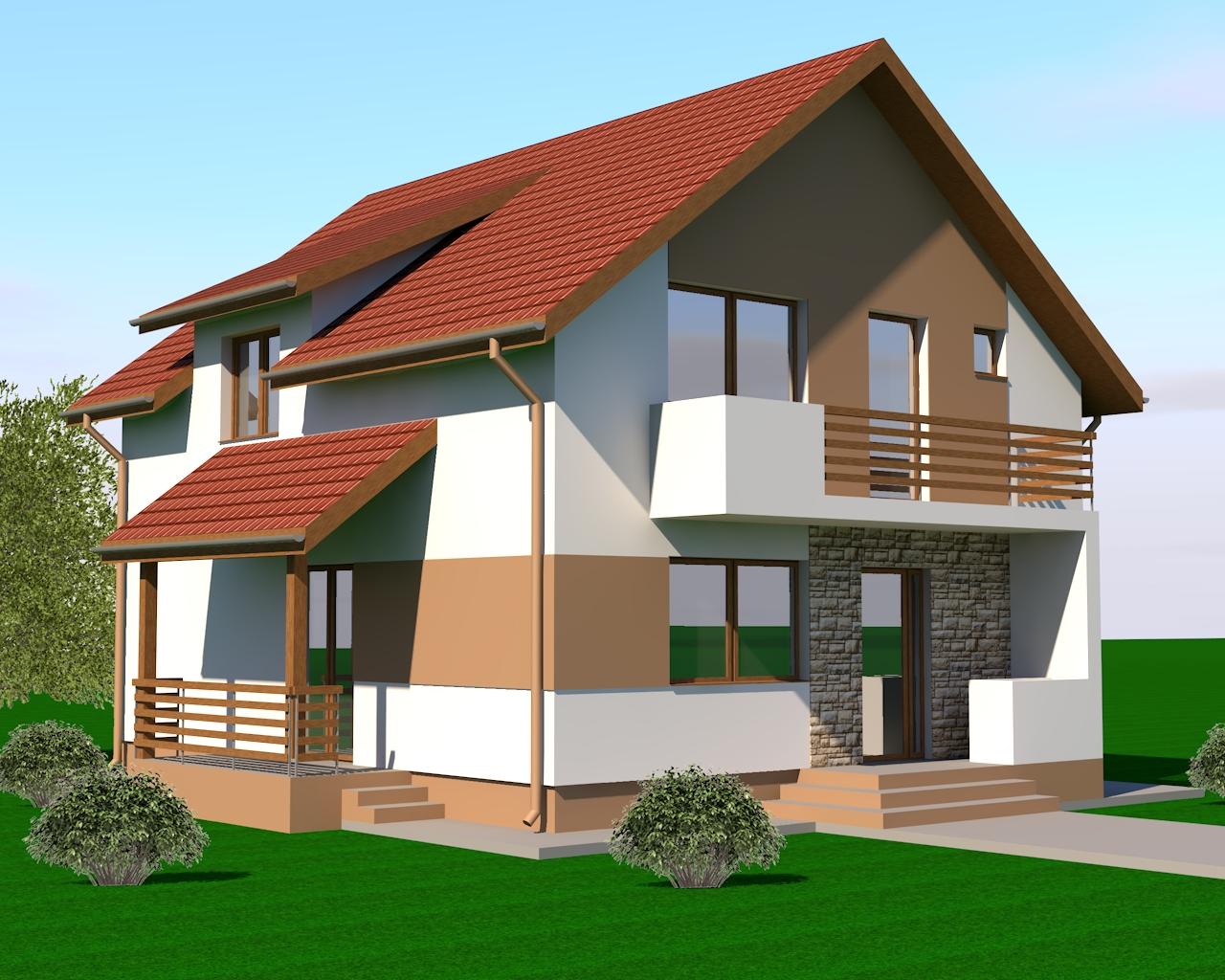 Proiecte case mici proiect casa mica 145mp for Proiecte case cu mansarda 2017
