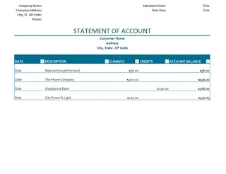 What Is Statement Of Account?
