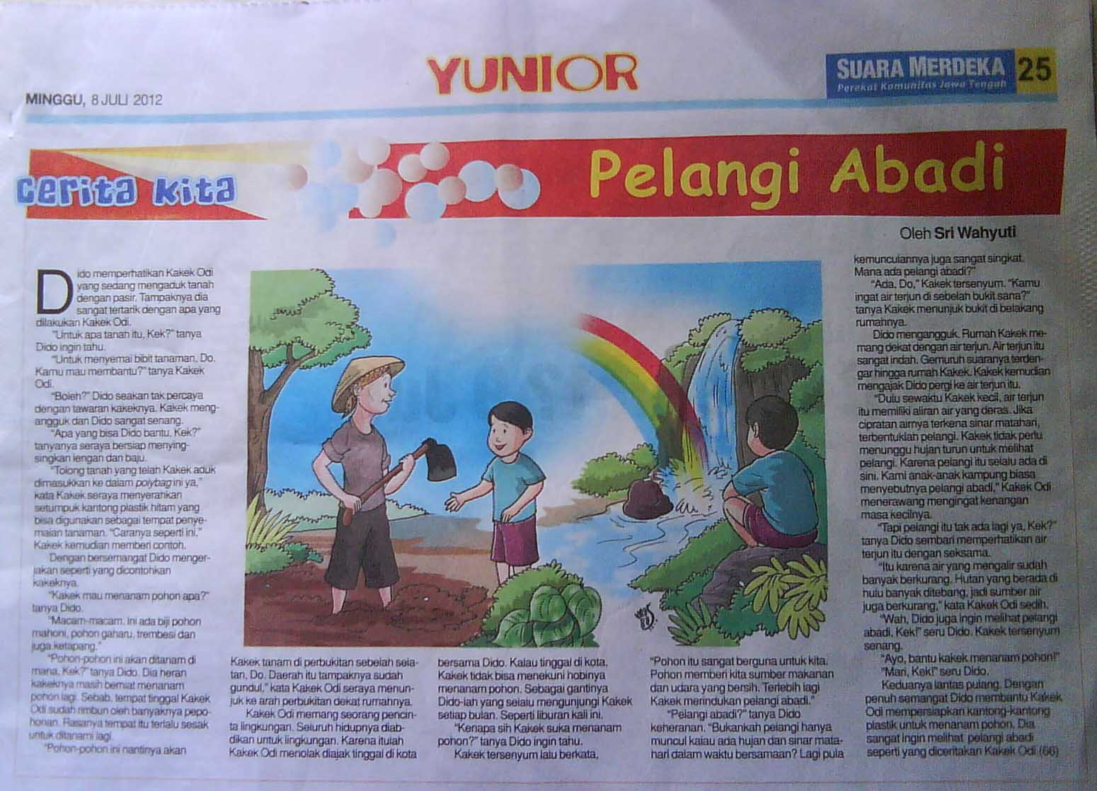 Wahyuti Journal Cerita Anak Pelangi Abadi