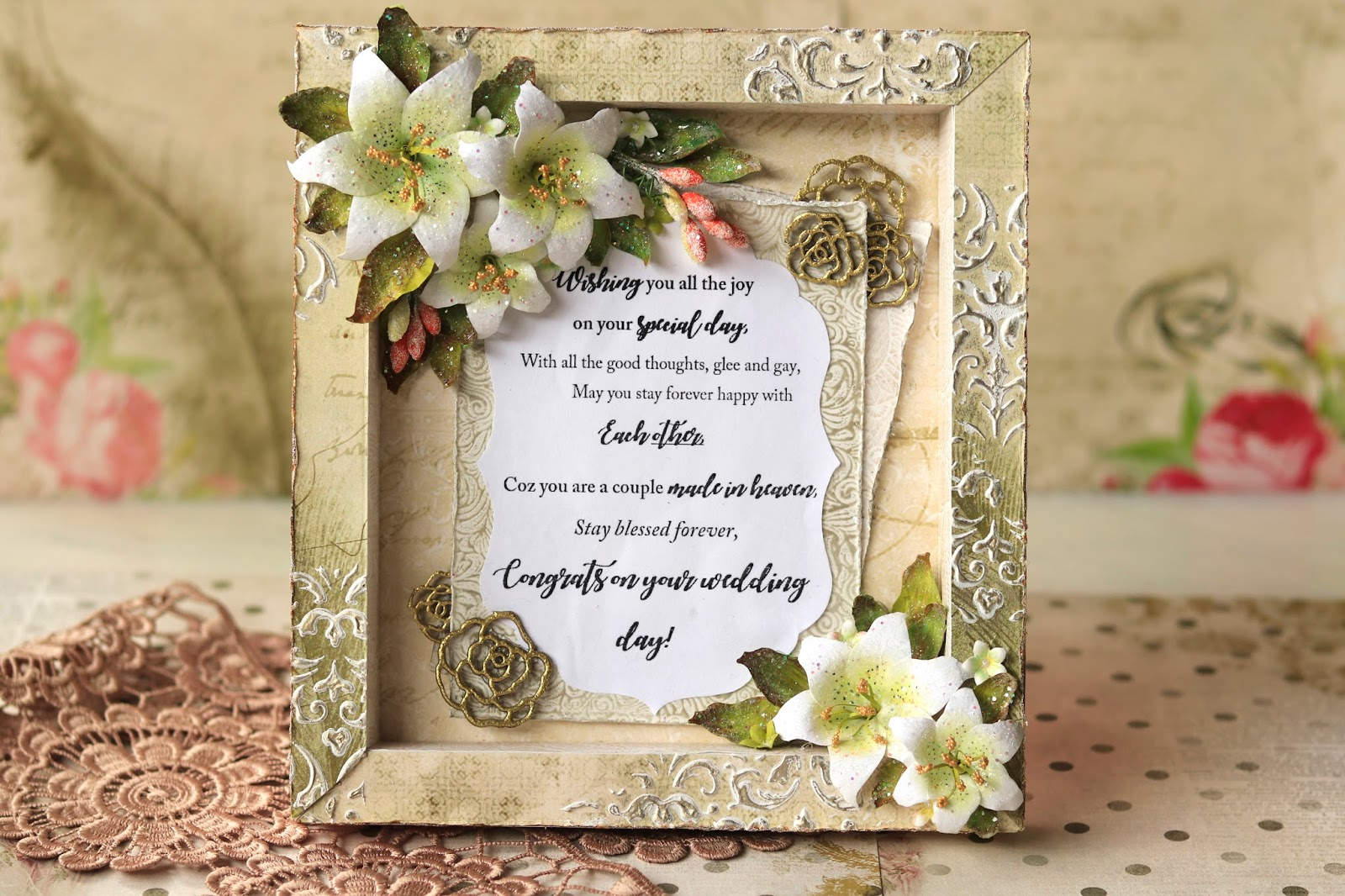 Wedding Wishes Shadow Box Card By Heena Guest Designer Papericious