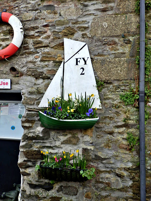 Display on Fowey Harbour Office outside wall, Cornwall