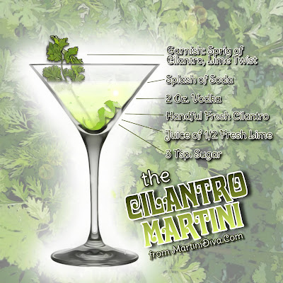 Cilantro Martini Ingredients & Instructions