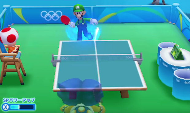 Ludwig Von Koopa Luigi playing paddle Mario & Sonic at the Rio 2016 Olympic Games 3DS