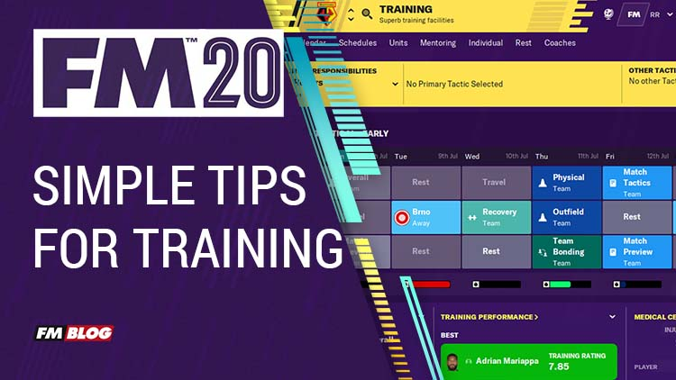 Simple Tips for Training in Football Manager 2020