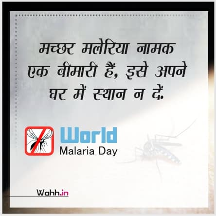 World Malaria Day Status  In Hindi